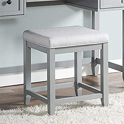 Magnificent Crosley Furniture Vista Vanity Stool In Gray Alphanode Cool Chair Designs And Ideas Alphanodeonline