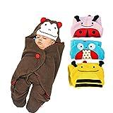 Animal Cartoon Newborn Baby Sleeping Bag Cute Blanket Swaddle Stroller Wrap 1pc