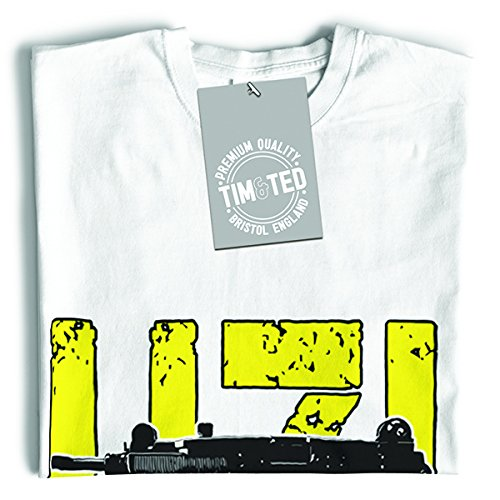 Tim and Ted Uzi Does It disegno stampato pistola arma militare Shooting Range T-Shirt Da Donna
