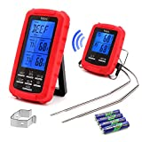 Veken Wireless Digital Meat Thermometer Remote Cooking Food Grill Thermometer with Dual Probes