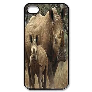 ALICASE Diy Customized hard Case Rhinoceros For Iphone 4/4s [Pattern-1]