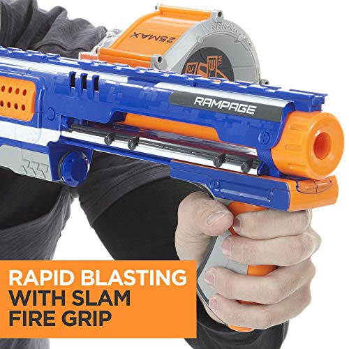 51IiCTWr%2BYL - Nerf Rampage N-Strike Elite Toy Blaster with 25 Dart Drum Slam Fire and 25 Official Elite Foam Darts For Kids, Teens, and Adults