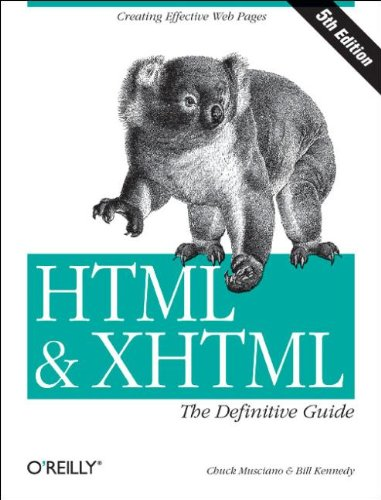 HTML & XHTML: The Definitive Guide, Fifth Edition