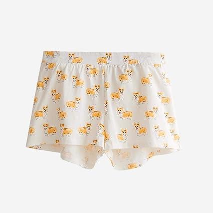 5082f7bb33 Amazon.com: Lessonmart Pajama Shorts Women Cute Dog Print Corgi Cotton  Elastic Waist Stretchy Sleep Bottoms Pijama Mujer S-XXL B78401 P: Kitchen &  Dining