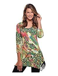 Nygard Women's Plus Size Slims 3/4 Sleeve Tunic MultiAnml