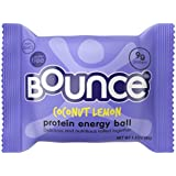 Bounce Coconut Lemon Protein Energy Ball –– Whey Protein, Gluten Free, Non-GMO, Vegetarian, On The Go  Snack –– 1.41 Ounce, 12 count