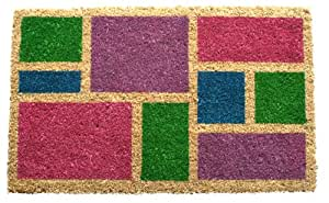 Entryways Spring Blocks Non Slip Coconut Fiber Doormat