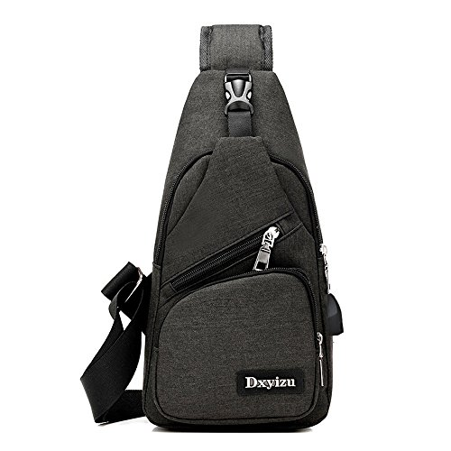 Digital Shoulder Pack Black Rucksack Bag Travel Chest Sling Canvas Charging Port Camera Bags With Bicycle Triangle Gym Satchel Crossbody Daypack Fanny vEOwq0RBw