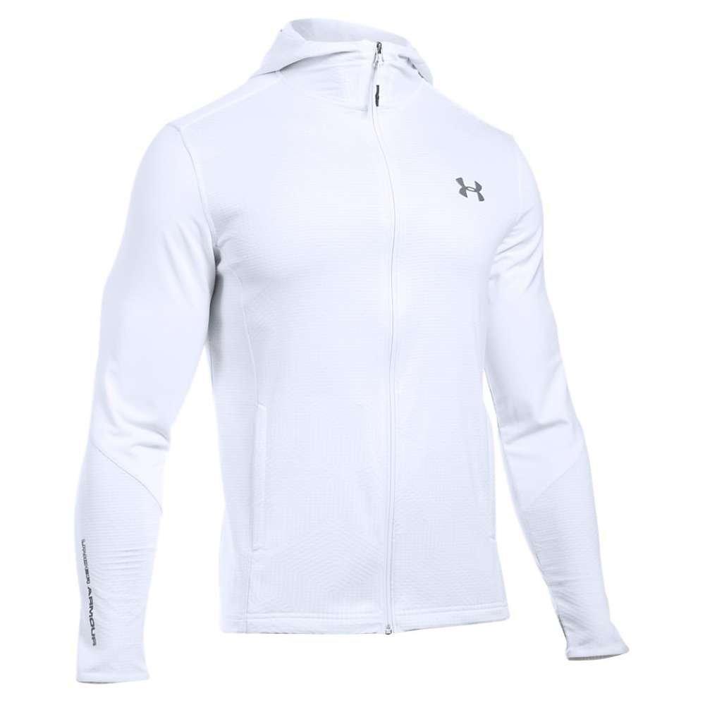 Under Armour UA ColdGear Infrared Grid Full Zip Hoody - Men's White / Graphite XXL
