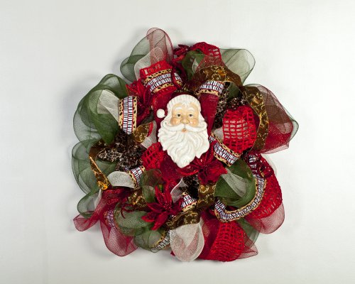 Beautiful Holiday Wreath - Learn How to Create Beautiful Deco Mesh Wreaths and Decorations for Home Decor Holiday Decomesh Wreath