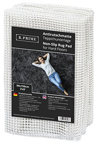 B.PRIME 3x5-Feet Non-Slip Rug Underlay Pad for Hard Floors. Different Size Options - Rug Non Pad Slip