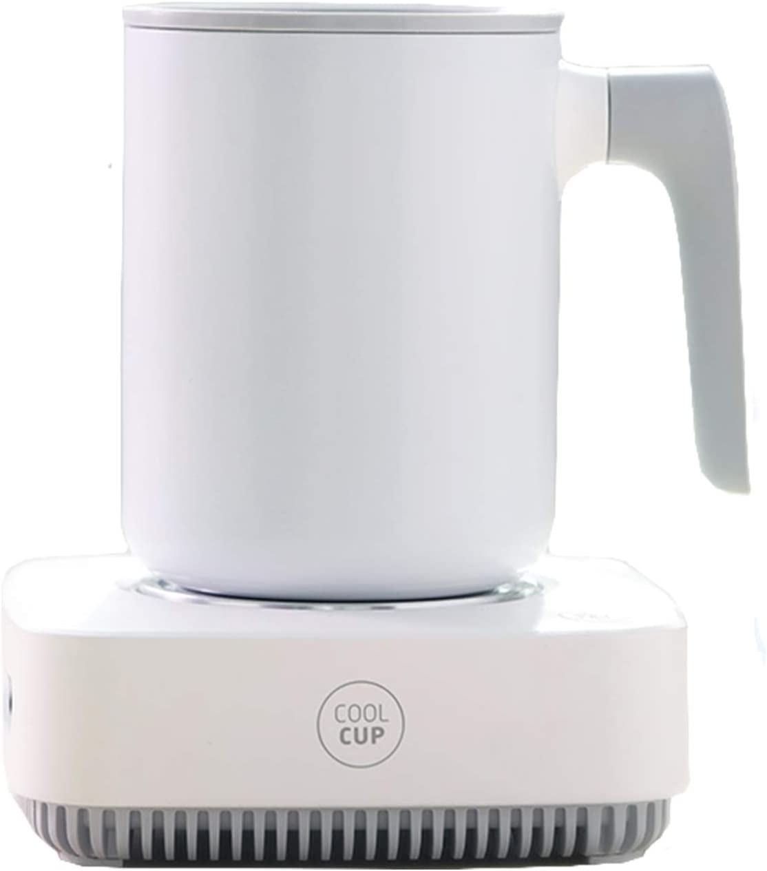 White Coffee Heater Cup Heater 2 in 1 USB Cup Cooler Heater Plate Office Desktop Home Heating Cooling Device for Cocoa Coffee Tea