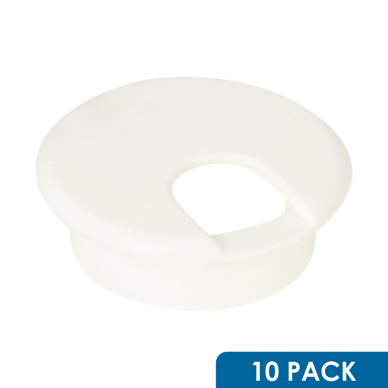 10 Pack Rok Hardware 3'' (76mm) Round White Computer Desk Table Port Wire Cable Organizer Hole Cover Grommet