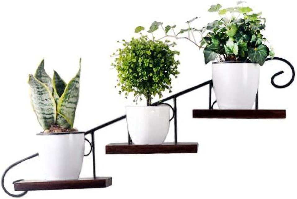 Shelf Support Brackets Ldfz Industrial Flower Pot Holder Wall Mounted Metal Hanging Planter Modern Plant Hangers Mid Century Flower Pot Holder Home Decor Pot Not Included Amazon Co Uk Kitchen Home