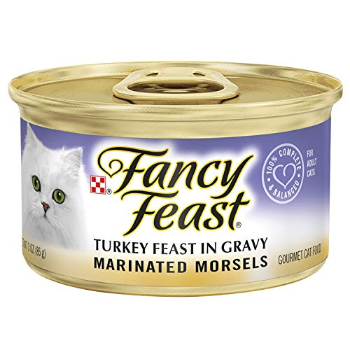 (Fancy Feast Wet Cat Food, Marinated Morsels, Turkey Feast in Gravy, 3-Ounce Can, Pack of)