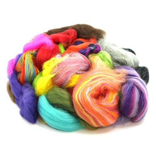 - Assorted Ends/Waste from Wool Tops/Roving