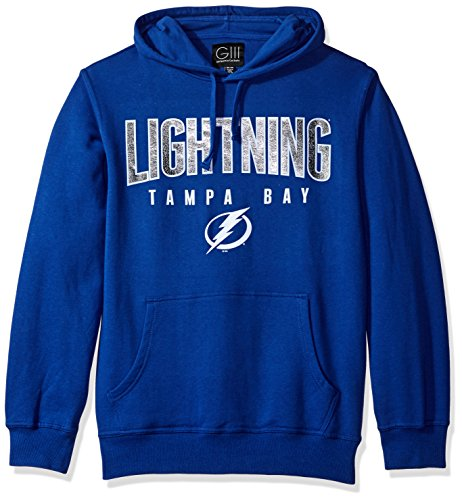 NHL Tampa Bay Lightning Men's The Rookie Pullover Fleece Hoodie, X-Large, Royal Lightning Fleece Hoodie