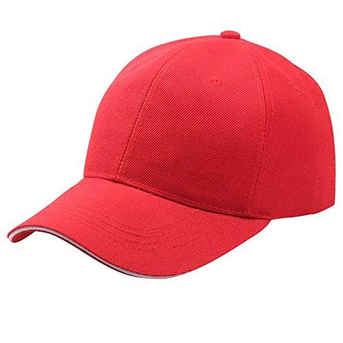 Rojo Gorra para de ESAILQ béisbol Hombre wa61npq