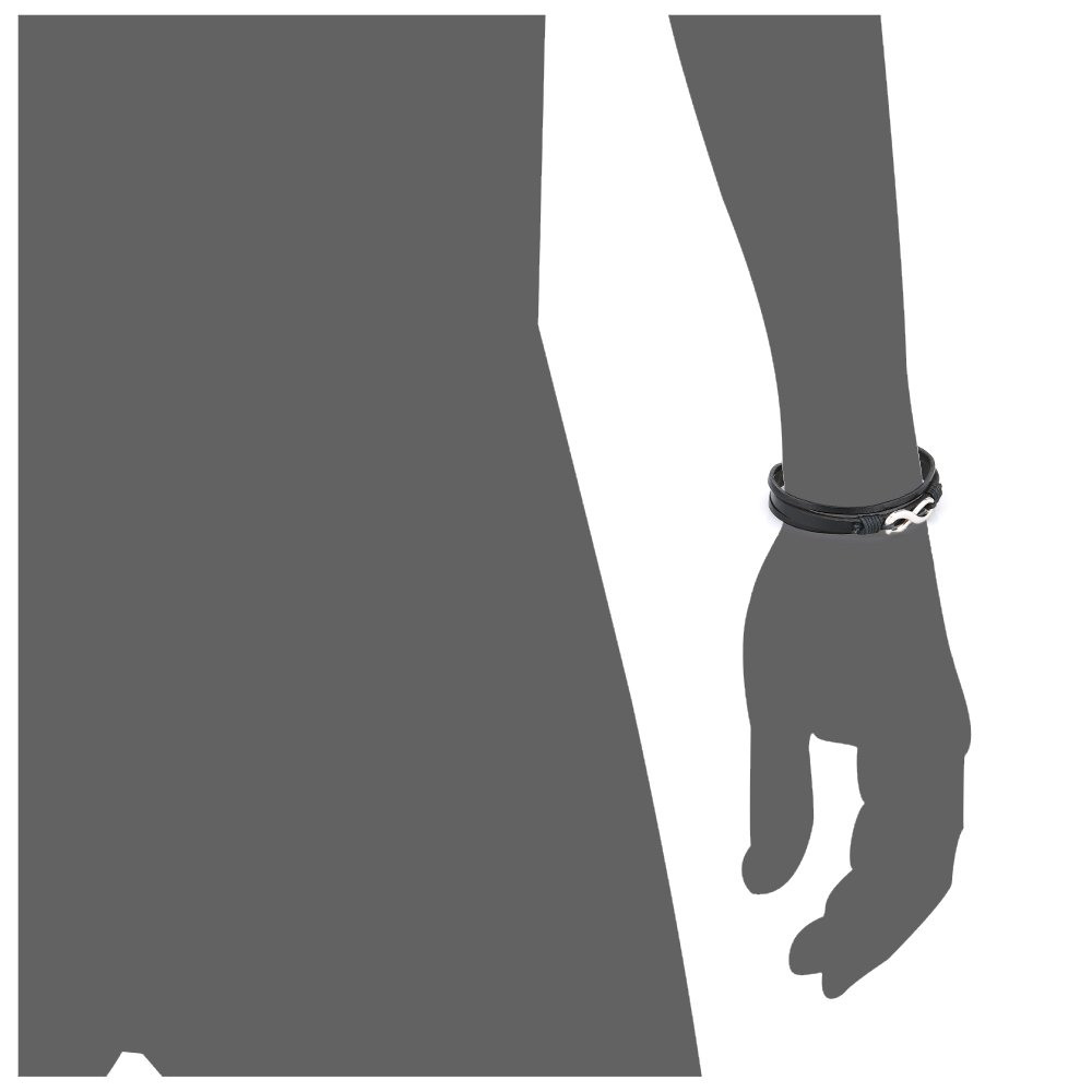 Pridot Friendship Bracelets Accessories Black Unisex Leather Bracelet Bangle Infinity Factor Wristband Tribal Cuff with Retro Alloy Clasp: Amazon.es: ...