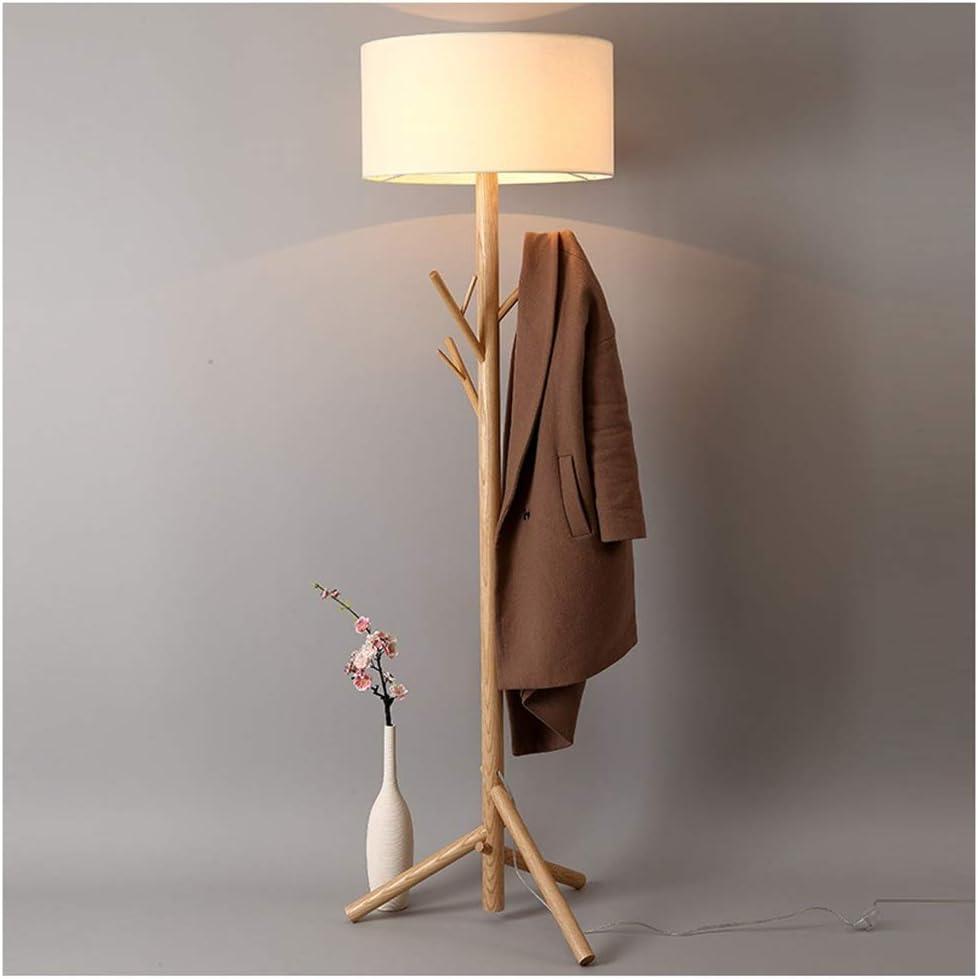 YliJkeT Lámparas de pie Lámpara de pie, árbol de Madera nórdico 杈 ...