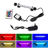 S SMIFUL Aquarium Light Fish Tank LED Lights Submersible Underwater Colorful Strip for Background Decorations Glofish Plant Lighting, 7.5' - Colorful
