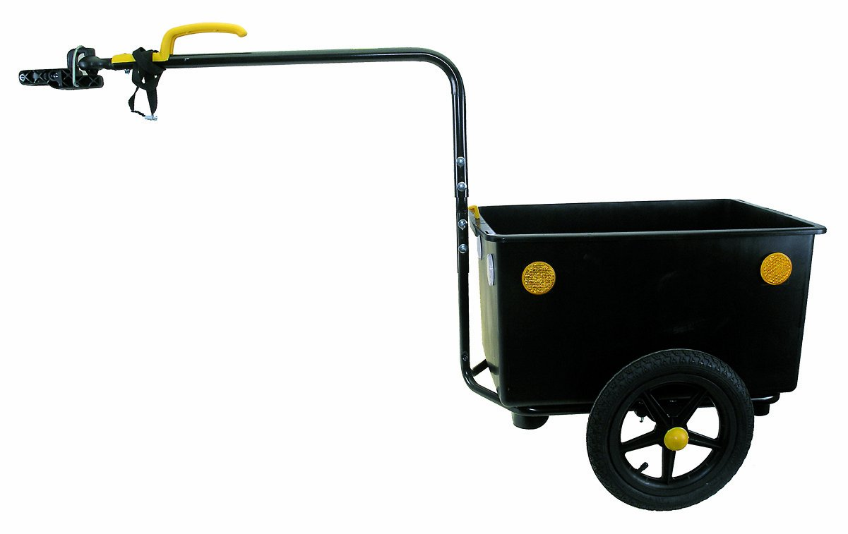 Bellelli Bicycle Luggage Trailer (Black/ Yellow, 58x39x30-cm)