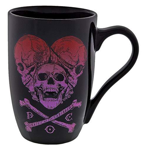 Disney Coffee Cup Pirates Of The Caribbean Skull Heart Ceramic Mug