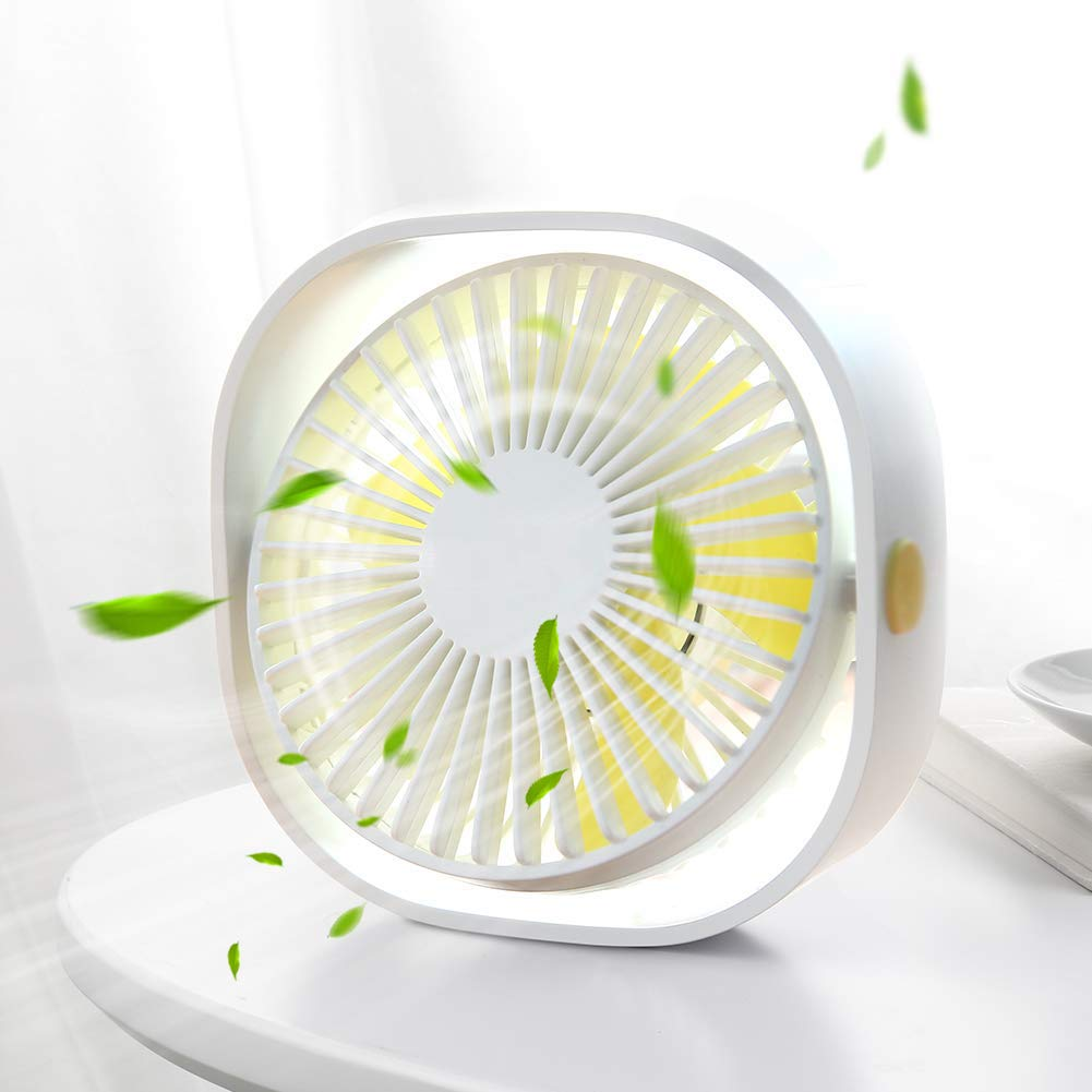 Adjustable Quiet Table Fan for Office Home Laptop Car Outdoor USB Desk Fan White Sancusto Personal Fan Powerful Small Portable Fan