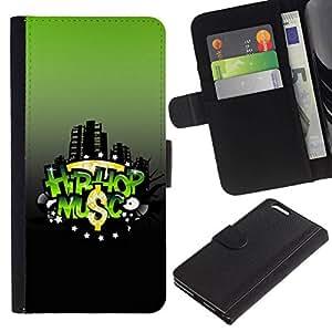 All Phone Most Case / Oferta Especial Cáscara Funda de cuero Monedero Cubierta de proteccion Caso / Wallet Case for Apple Iphone 6 PLUS 5.5 // Hip-Hop Music