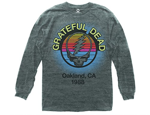 - Ripple Junction Grateful Dead Oakland, CA 1988 Adult Long Sleeve 3XL Heather Grey