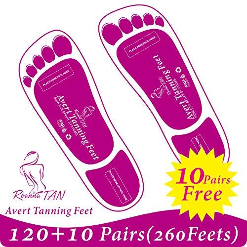 Economy 120+10 Pairs (130 Pairs, 260 feets) Purple Spray Tanning Feet Stick Pads; Avert Tanning Feet