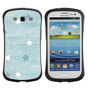 Suave TPU GEL Carcasa Funda Silicona Blando Estuche Caso de protección (para) Samsung Galaxy S3 I9300 / CECELL Phone case / / Baby Blue Cute Wallpaper Pattern /