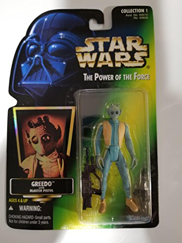 Kenner Star Wars The Power of The Force Greedo with Green Holo Card