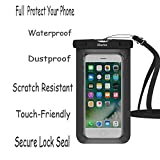 Waterproof Case,3 Pack iBarbe Universal Cell Phone Dry Bag Pouch Underwater Cover for Apple iPhone 7 7 plus 6S 6 6S Plus SE 5S 5c samsung galaxy Note 5 s8 s8 plus S7 S6 Edge s5 etc.to 5.7 inch,skyblue
