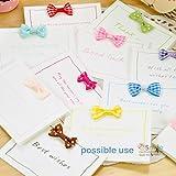 "Bow Tie, HipGirl 20pc Ribbon Applique Embellishment for Crafts, Christmas Cards, Scrapbooks, Wedding Invitations, Baby Showers--1.25"" DIY Satin Ribbon Mini Bow Tie Bows--Black"