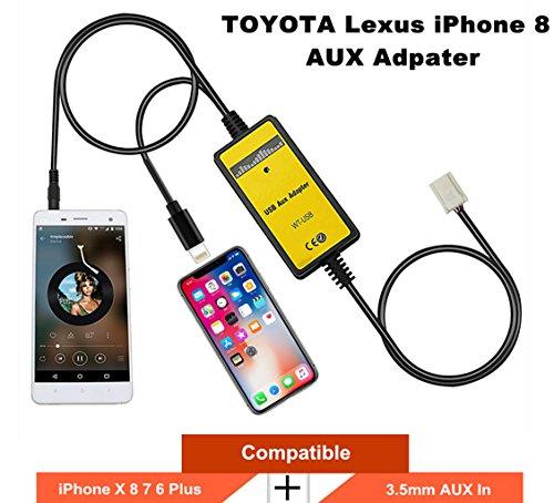 Toyota Lexus IX 8 7 AUX Adapter, Car Audio CD Changer Lightning & 3.5mm for Corolla Camry Tacoma Tundra Sienna 4runner Highlander Avalon Yaris Sequoia Venza Solara RAV4 Land Cruiser ()