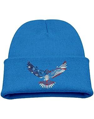 American Eagle Stare Kids Beanie Warm Skull Cap
