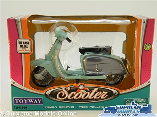 LAMBRETTA SCOOTER MODEL BIKE MOPED 1:18 SIZE GREEN//GREY 1960S TOYWAY 150 175 T3