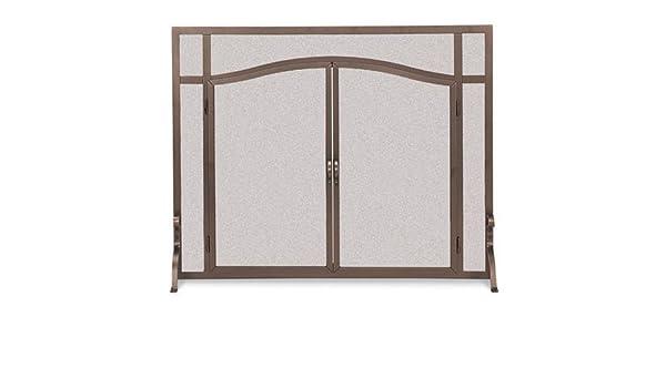 Soporte de chimenea pantalla w arco puertas en hierro acabado (44 en. Ancho): Amazon.es: Hogar