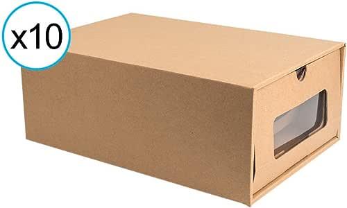 tophomer Pack de 10 cajas de almacenamiento de zapatos de cartón ...