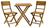 Exaco FM Bistro Balcony Furniture Set - Folding Table & 2 Folding Chairs
