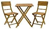 Exaco Trading Co. FM Bistro Exaco Furniture Set, Acacia Wood