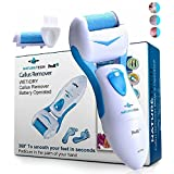 Nature Tech Pedi Electronic Pedicure Foot File Callus Remover for Dry Feet & Cracked Heels Includes 1 Extra Mineral Pumice Stone Rollers Show Immediate Results for Men & Woman (blue)