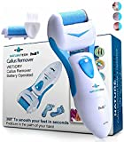 Electronic Foot File Callus Remover: Pedicure Tools Scrubber Kit Electric Shaver With 2 Coarse Pumice Stone Refills for Dry Feet, Hard, Dead Callused Skin & Cracked Heels, Perfect Pedi Care Spa