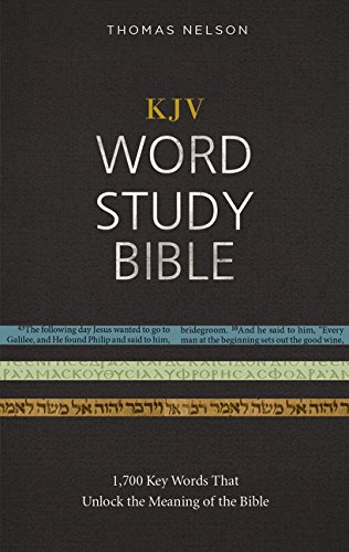 KJV, Word Study Bible, Hardcover, Red Letter Edition: 1,700 Key Words that Unlock the Meaning of the Bible (The Father The Word And The Holy Ghost)