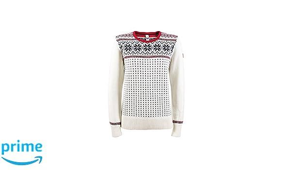 d210705249 Amazon.com  DALE OF NORWAY Women s Garmisch Feminine Sweater A-Off-White  Navy Raspberry X-Small  Sports   Outdoors