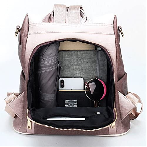 Color : Gradient red-32.515.533cm GJ Backpack Female Leisure Bag School Bag Canvas Bag Oxford Textile Synthetic Leather Retro Backpack Traveling Backpack Sports Backpack