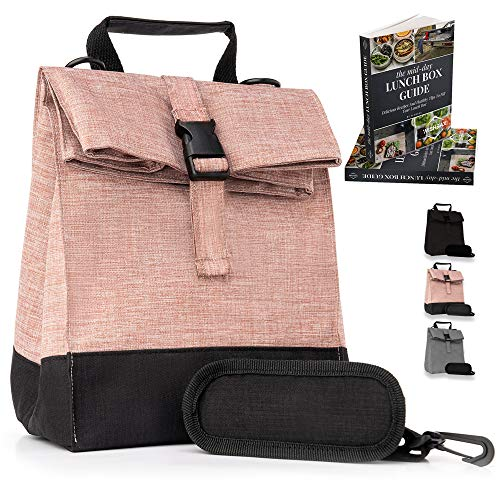 Thermal Insulated Medium Lunch Box Reusable Lunch Bag Medium Lunch Boxes for School, Work, Hiking Trips, Beach,Outdoor Activities Cooler Bag, Shoulder Strap Adjustable, Lunch Bags for Men Women Teens