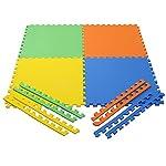 Her Home – Eva Kid's Interlocking Multi Color Play Mat – 10 Mm Thickness – Set Of 4 Tiles – 60 Cm X 60 Cm Each Tile