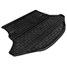 3D MAXpider Cargo Custom Fit All-Weather Floor Mat for Select Toyota Venza Models - Kagu Rubber (Black)